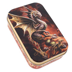 Yellow Brown Desert Dragon Tin by Anne Stokes