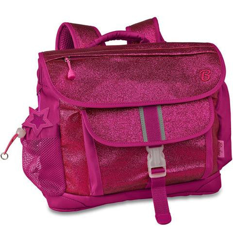 Raspberry glitter backpack