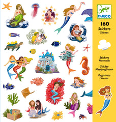 mermaid stickers, party favours gifts