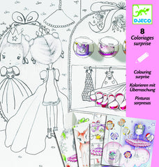 DJECO colouring in sets, Magical colouring in pictures, ballerina, deer, dressing up