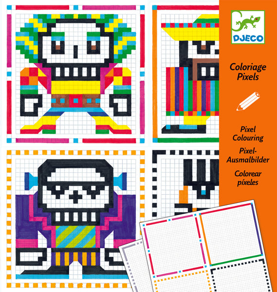Pixel Character Colouring for boys DJECO