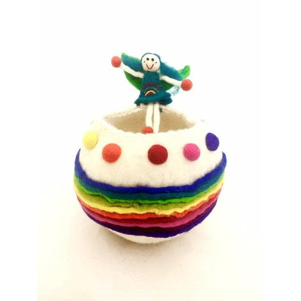 Rainbow Fairy Felt Wishing Bowl