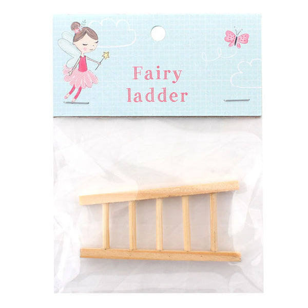 Miniature fairy garden ladders