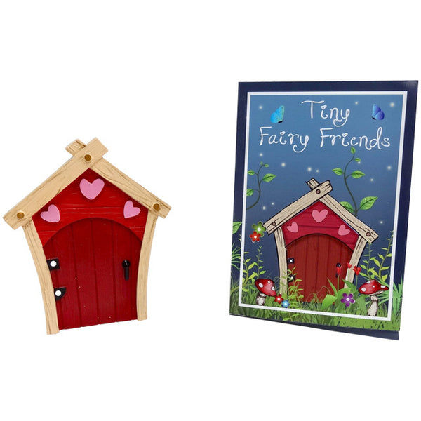 Red fairy doors for the skirting board