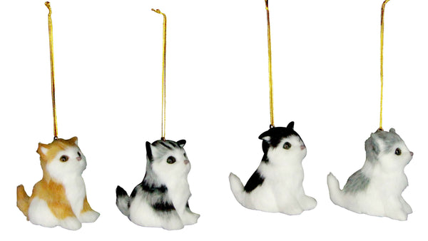 Cat Christmas Decorations Kittens Gisela Graham