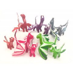 Small Colourful Felt Dragons