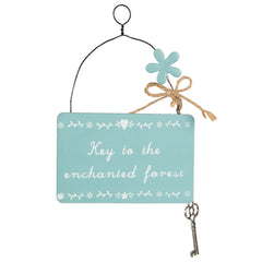 Key to the enchanted forest fairy plaque