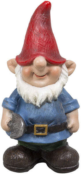Miniature garden gnomes for fairy garden with shovel
