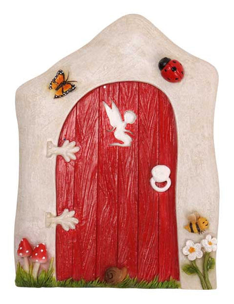 Large Animated Red Fairy Door