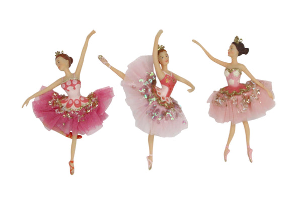 Gisela Graham Ballerinas Christmas Ornaments