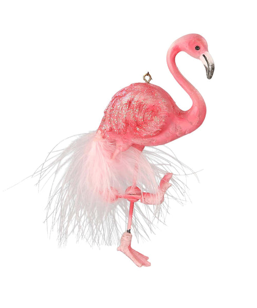 Gisela Graham Pink Flamingo Christmas Ornament