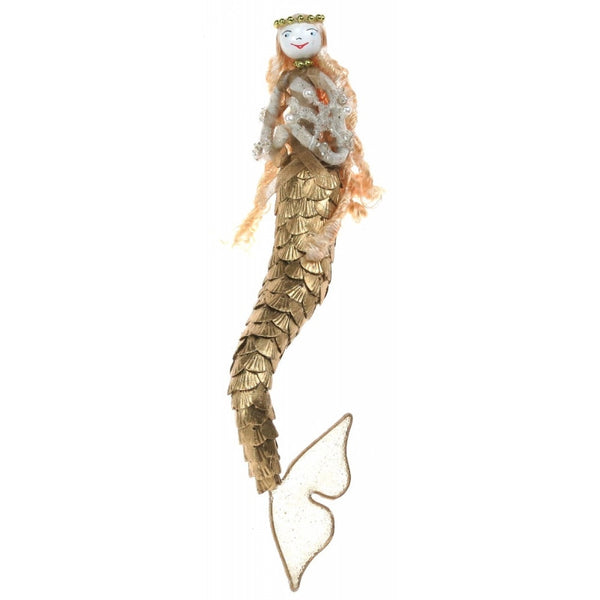 Gold fish mermaid hanging decoration, hand made