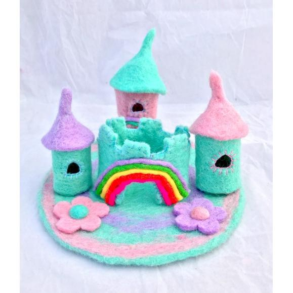 Unicorn Castle Felt Play Set