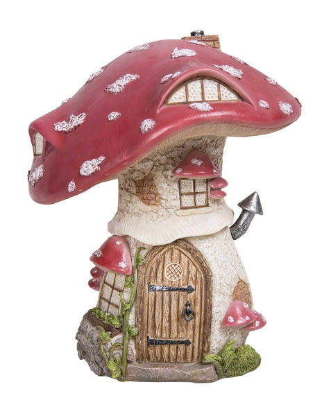 Vivid Arts red toadstool cottage