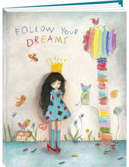 large follow your dreams notepad
