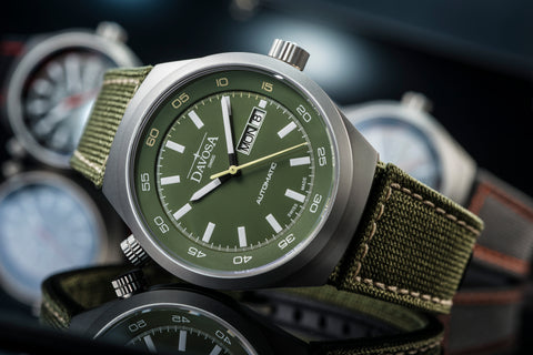 Green military watch