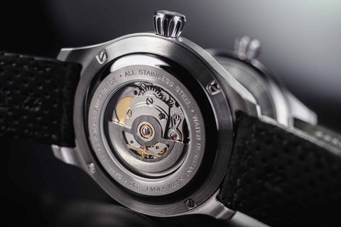 automatic watch back crystal