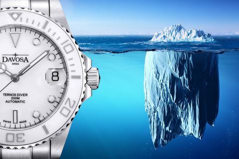 White dial automatic watch