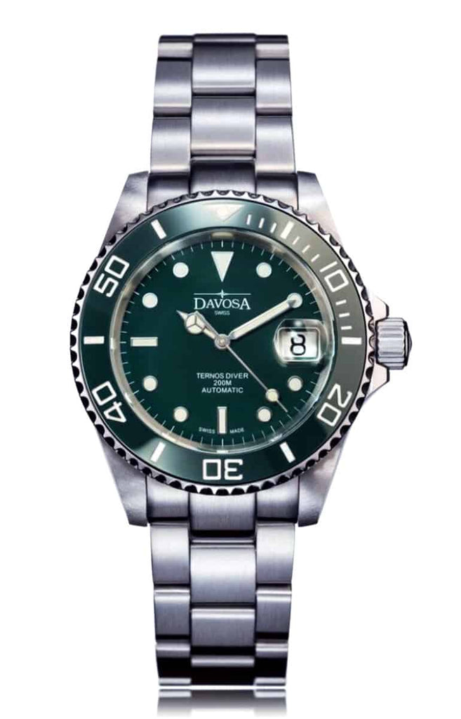 Ternos green 40mm automatic 200m diver 16155570