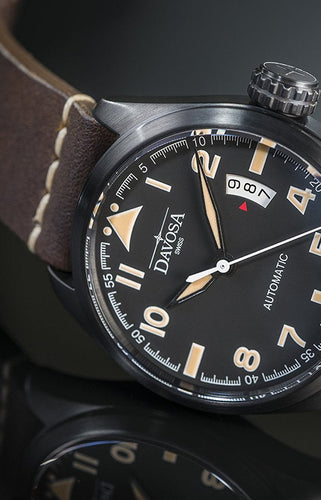 "Military ""vintage"" black pvd 200m automatic 42mm 16151184"