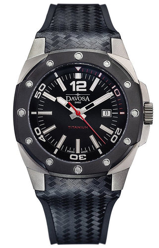 Davosa Titanium 46mm Black 10 ATM Automatic 16156155