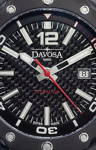 Davosa Titanium 46mm Black PVD 10 ATM Automatic 16156255