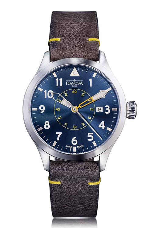 Neoteric pilot 42mm automatic blue-yellow 16156546