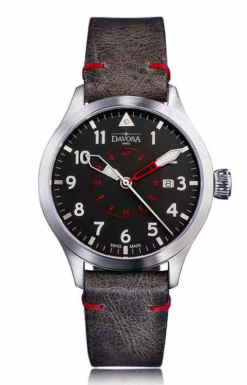 Neoteric pilot 42mm automatic red-black 16156556