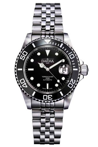 Ternos black 40mm automatic 200m diver 16155505 pentaLink