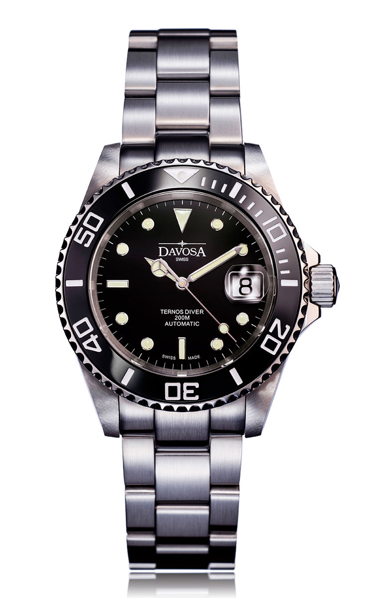 Ternos black 40mm automatic 200m diver 16155550 trialink
