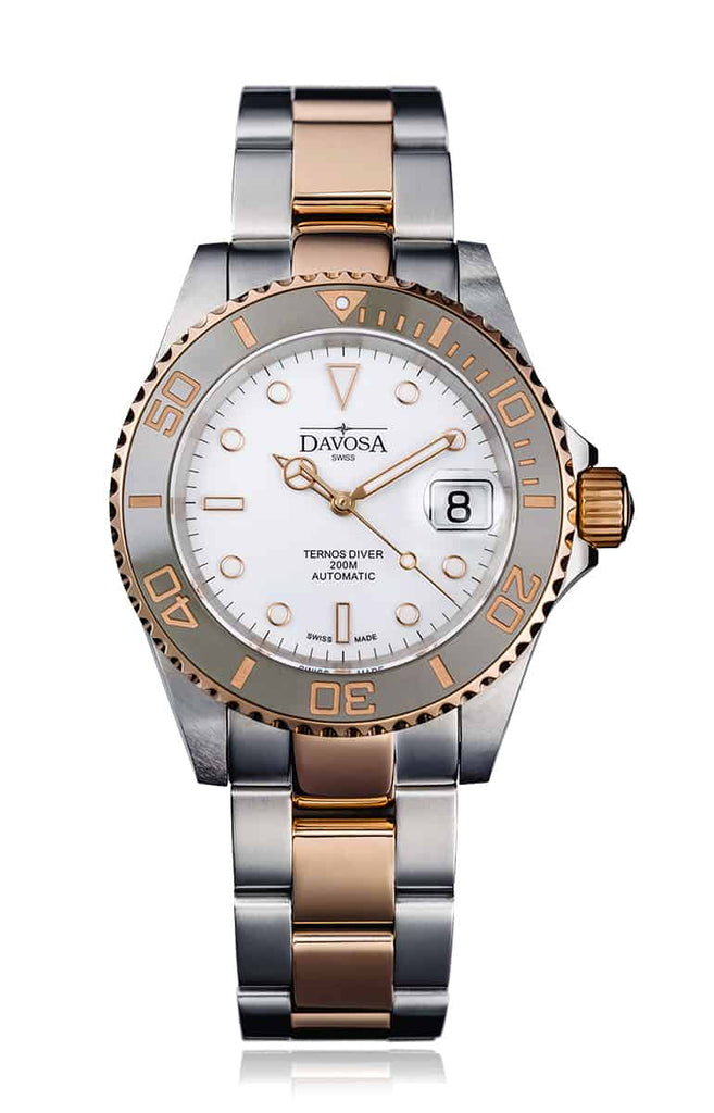 Ternos ceramic 40mm two tone automatic - white 16155563