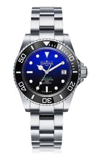 Ternos ceramic usa 200m diver automatic 40mm faded blue 16155599 - limited edition - Trialink