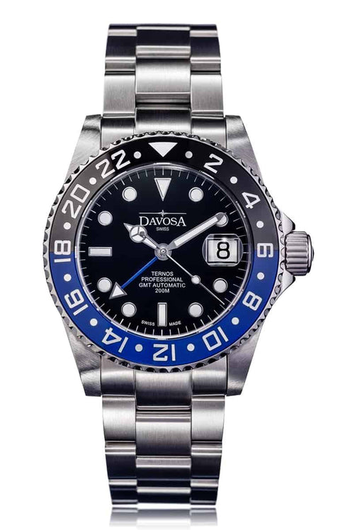 Ternos Professional TT 42mm 200m GMT Black/Blue