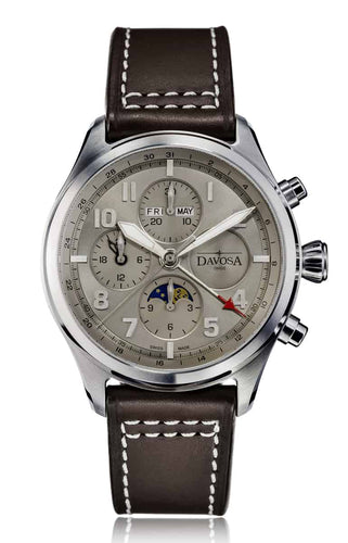 NEWTON Pilot Moonphase Grey Chronograph AUTOMATIC 16158615