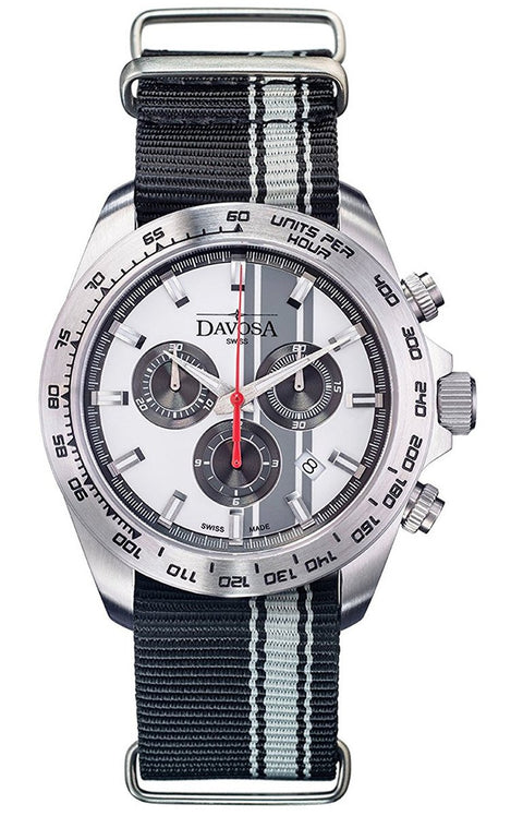 Speedline tx silver  42mm chrono 10atm quartz - 16248815