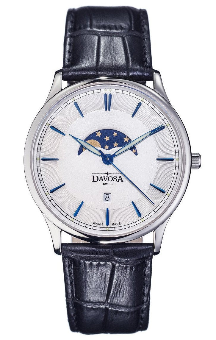 watch harry men s watches automatic midnight winston lunar moon phase dial silver