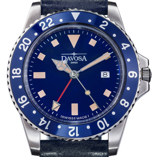Vintage Diver Quartz 100m Blue Stainless Steel 39mm 16250045