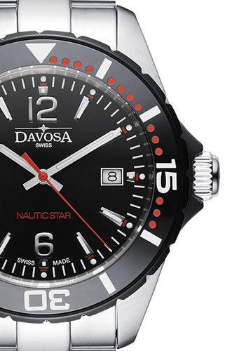 Nautic Star Black/Red 10 ATM Quartz 16347265