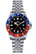 Vintage diver quartz 100m red-blue stainless steel bracelet 39mm - 16350090