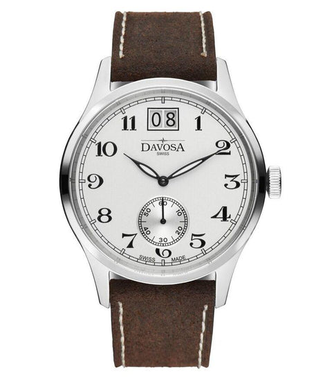 Heritage Big-date 16247816 Men Wrist Watch Genuine Leather, White