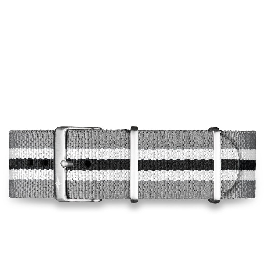 Grey/Black Nylon Strap - 20mm - 16955520