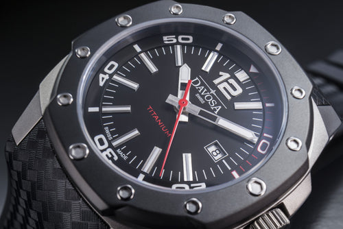 Titanium 46mm black 100m automatic 16156155