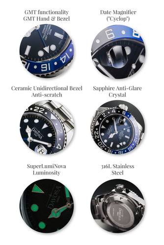 "Ternos Professional TT 42mm 200m GMT Black/Blue ""BATMAN"" 16157145"