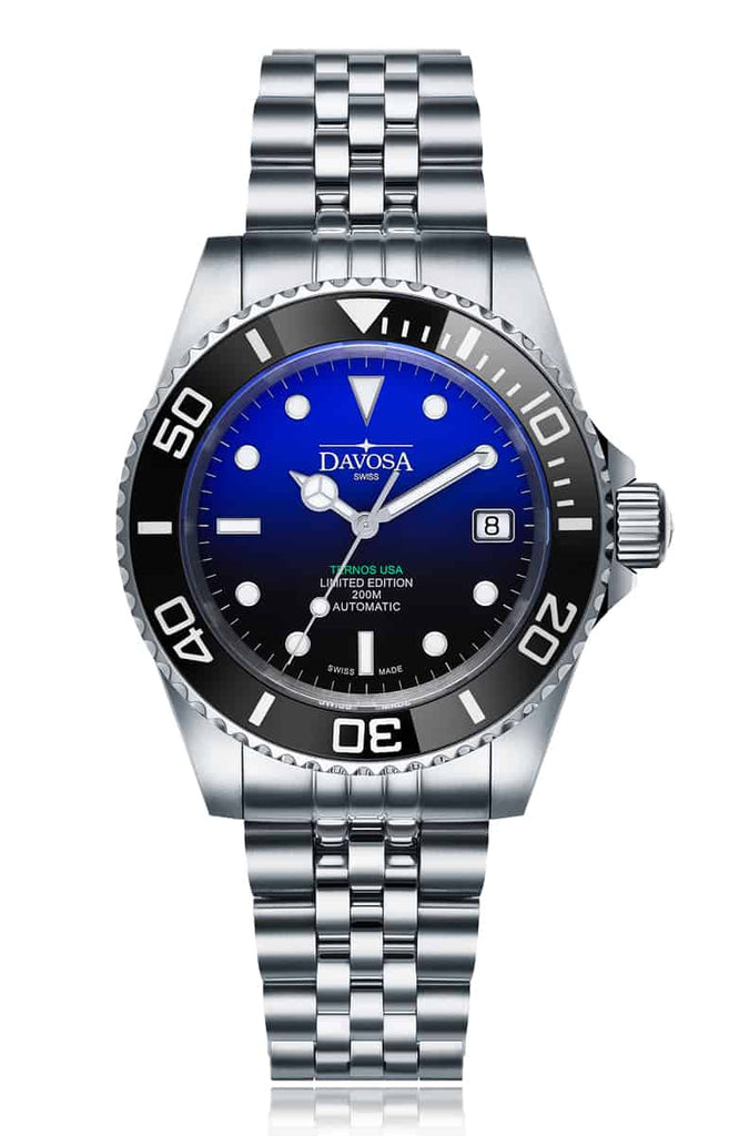 Ternos ceramic usa 200m diver automatic 40mm faded blue 16155599 - limited edition
