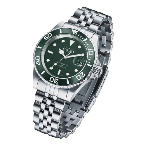 Ternos green 40mm automatic 200m diver 16155507 pentalink