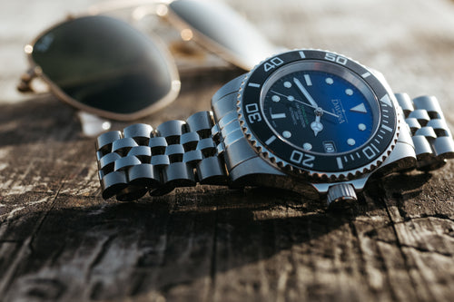 Ternos ceramic usa 200m diver automatic 40mm faded blue 16155599 - limited edition - Pentalink