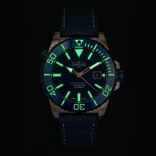 Argonautic bronze 300m diver blue 42mm automatic 16158145 - limited edition