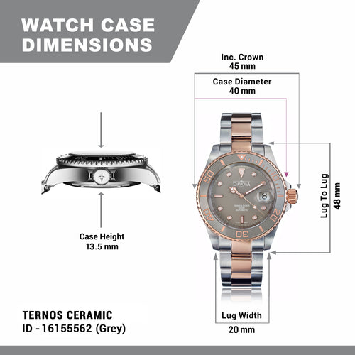 TERNOS CERAMIC 40mm Two Tone AUTOMATIC 16155562