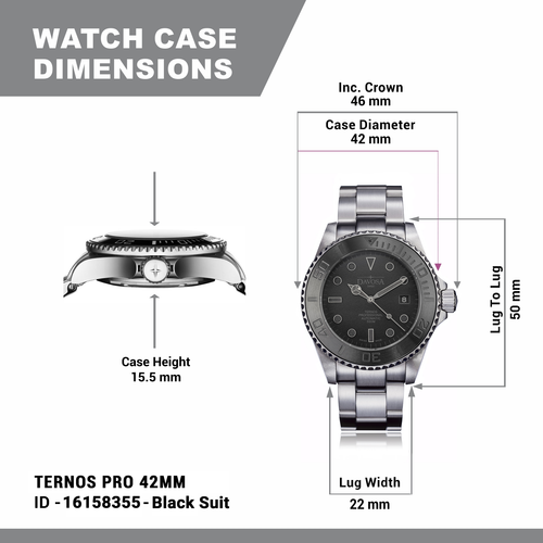 TERNOS PRO 42MM BLACK SUIT 16158355 Limited Edition