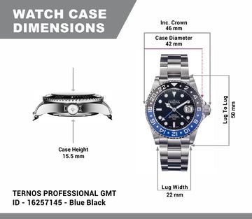 "Ternos professional tt 42mm 200m gmt black-blue ""Batman"" 16157145"